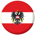 Austria Eagle Country Flag 25mm Flat Back